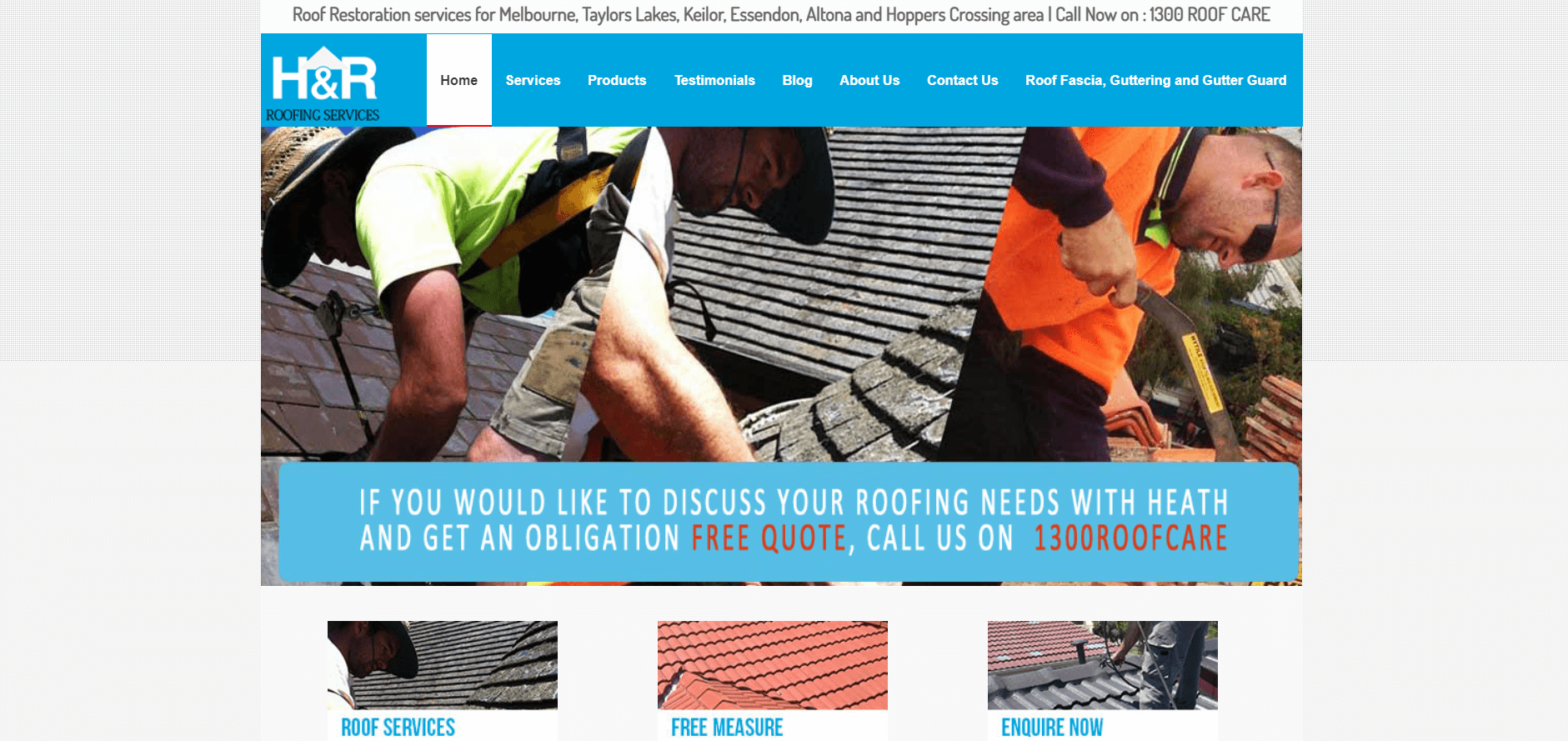 h&r roofing services