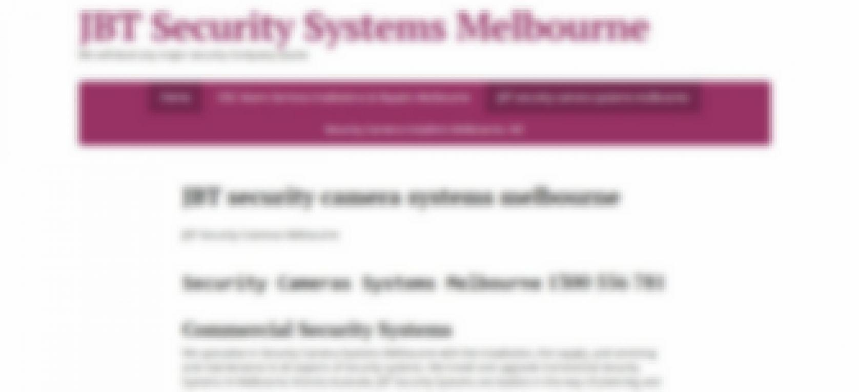 jbt security camera systems