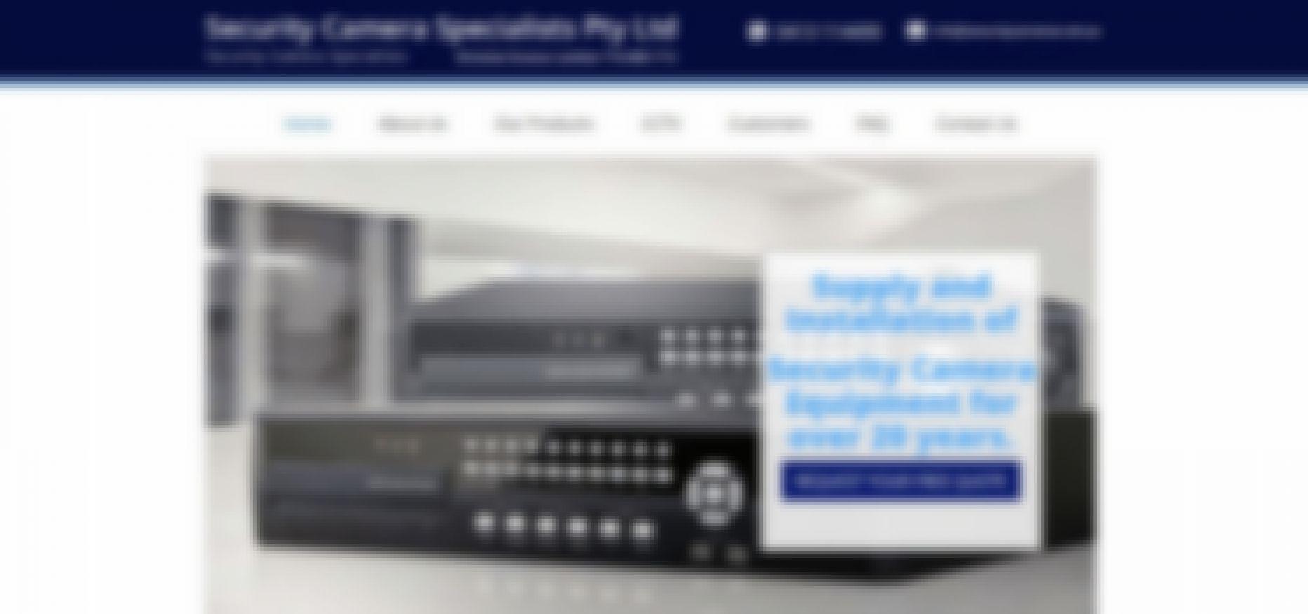 security camera specialists pty ltd